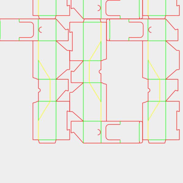 die cut templates - nesting
