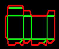 Dieline for Dip kilit yapıştırmalı kutular | becf-1101 A60.20.00.01