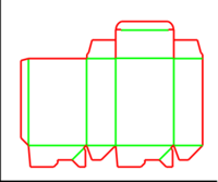 Dieline for Dip kilit yapıştırmalı kutular | becf-1111 A60.20.00.03