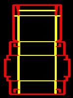 Dieline for Özel kutular | becf-21e5