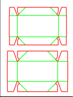 Dieline for Tava tipi kutular | becf-21c1  0451