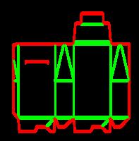 Dieline for Dip kilit yapıştırmalı kutular | becf-1b2 A60.75.00.03