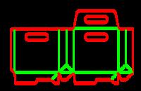 Dieline for Dip kilit yapıştırmalı kutular | becf-1b4 A60.75.00.03