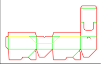 Dieline for Tuck top auto bottom boxes   becf-12de