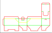Dieline for Snap lock boxes   becf-12ef