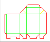 Dieline for Dip kilit kutular | becf-1914 A55.46.01.03