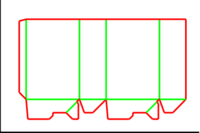 Dieline for Dip kilit yapıştırmalı kutular | becf-11011 A60.01.00.00