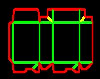 Dieline for Dip kilit yapıştırmalı kutular | becf-11013 A60.45.00.01