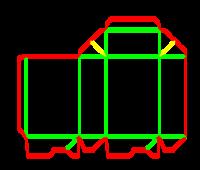 Dieline for Dip kilit yapıştırmalı kutular | becf-11014 A60.46.00.01