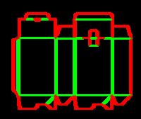 Dieline for Dip kilit yapıştırmalı kutular | becf-11015 A60.20.00.01.32.33