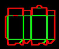 Dieline for Dip kilit yapıştırmalı kutular | becf-11017 A60.10.00.03.32