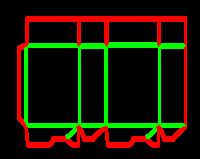 Dieline for Dip kilit yapıştırmalı kutular | becf-11018 A60.10.00.03