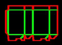 Dieline for Dip kilit yapıştırmalı kutular | becf-11019 A60.12.00.03