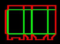 Dieline for Dip kilit kutular | becf-1919 A55.12.01.03
