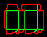 Dieline for Dip kilit yapıştırmalı kutular | becf-11012 A60.40.00.03