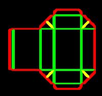 Dieline for İlaç tipi kutular | becf-123 A46.46.03.03