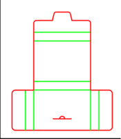 Dieline for Folders | becf-12b5 E40.82.00.00