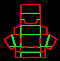 Dieline for Tava tipi kutular | becf-21b7